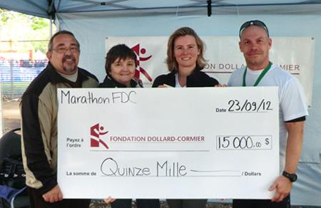 Marathon Oasis de Montréal - Equipe Fondation CRDM
